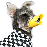WORDERFUL Anti Bite Duck Muzzles Dog Mouth Cover Duck Mouth Shape Anti-Called Muzzle Masks Pet Mouth Bite-Proof Mask (Yellow, M)