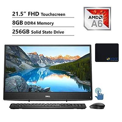 "Dell Inspiron 22 3000 All-in-One Desktop Computer 21.5"" FHD Touchscreen, AMD A6-9225, 8GB RAM, 256GB SSD, HDMI, Multi-Card Reader, USB 3.1, Wi-Fi, Bluetooth, Win10"