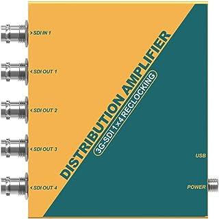 Avmatrix SD1141 Distribution Amplifier 1 Input 4 Output Audio Video SD HD 3G-SDI Splitter Support 1080P for Projector Monitor