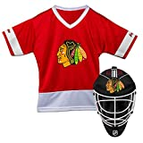 Franklin Sports Chicago Blackhawks Kid's Hockey Costume Set - Youth Jersey & Goalie Mask - Halloween Fan Outfit - NHL Official Licensed Product