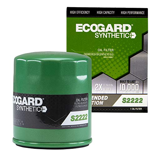 ECOGARD S2222 Premium Spin-On Engine Oil Filter for Synthetic Oil Fits Chevrolet Silverado 1500 5.3L...