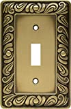Franklin Brass 64049 Paisley Single Toggle Switch Wall Plate/Switch Plate/Cover, Tumbled Antique Brass