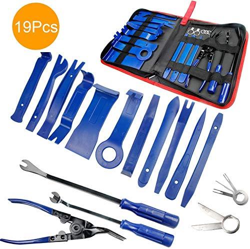 Preisvergleich Produktbild Demontage Werkzeug Auto - STYLINGCAR Zierleistenkeile Verkleidungs Werkzeug für Innen-Verkleidung Ausbau,  Verschiede Arten von Werkzeug enthältet Starke Nylon (19pcs Blau)