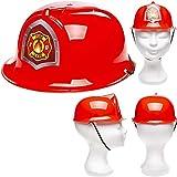Unique: Roter Feuerwehrhelm für Kinder | Verkleidung zum Feuerwehr-Kindergeburtstag, Fasching und...