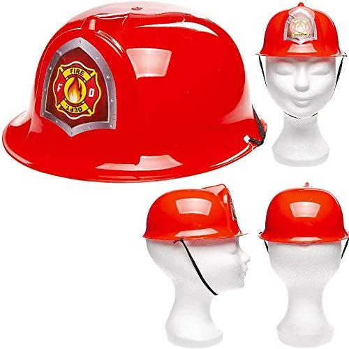 Unique: Roter Feuerwehrhelm für Kinder | Verkleidung zum Feuerwehr-Kindergeburtstag, Fasching und Mottoparty | Jedes Feuerwehrmann-Kind liebt diesen Helm!