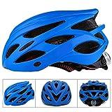 Casque de vélo SFBBAO Casque Velo Adulte Casques De Vélo avec Light Mountain Bike Road MTB Integrally-Molded l Bleu1