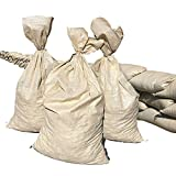 Sandbaggy - Empty Poly Sandbags W/UV Protection| Size: 14' x 26' - Color: Beige | Military Grade| Protects Homes & Businesses From Flooding | Sand Bags Trusted by US Military (50 Bags)