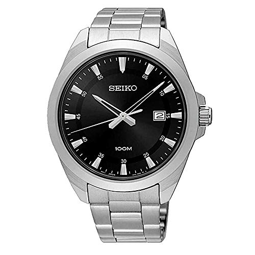 SEIKO Reloj para Hombre Analógico Cuarzo japonés con Corre