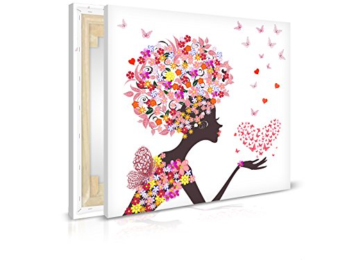 XXL-Tapeten Leinwandbild Flower Girl - Fertig Aufgespannt - Gemälde, Kunstdruck, Wandbild, Keilrahmen, Bild auf Leinwand von Trendwände - Format: 40x40cm, Standard: Polyester-Leinwand 2cm Rahmen
