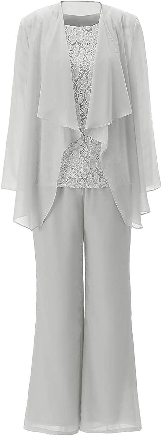 Dennis dress Women's Mother of Bride Dress Pant 3-Piece Wedding Formal Outfit