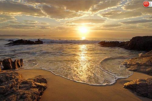 3d fototapete sonnenaufgang meer ozean welle sonnenuntergang strand wand poster wandaufkleber wohnkultur @ 150 * 105 cm