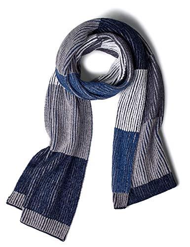 CECIL Damen 570944 Schal, Mehrfarbig (deep blue 30128), One Size (Herstellergröße:A)