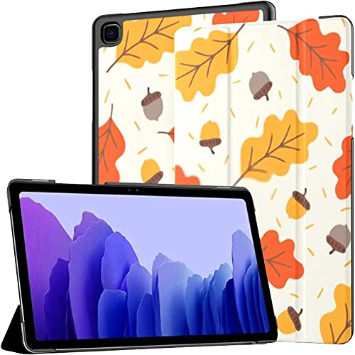 Funda para Samsung Galaxy Tab A7 Tableta de 10,4 Pulgadas 2020 (sm-t500 / t505 / t507), Bellotas Hojas de Roble otoñal Cubierta de Soporte de múltiples ángulos con activación/suspensión automática
