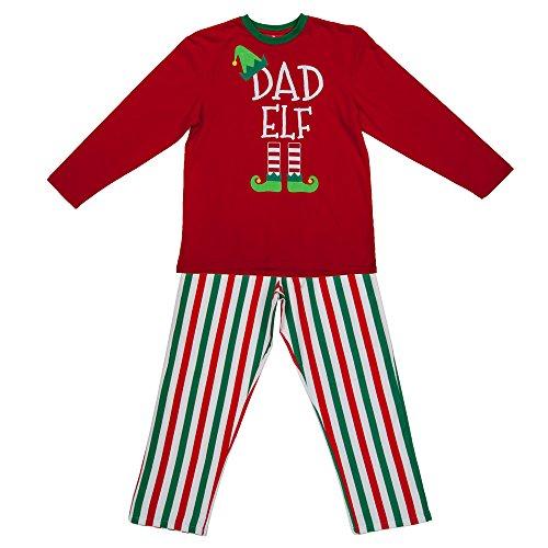 Mum Elf Ladies Christmas Red Pyjamas PJs - Small UK 8-10