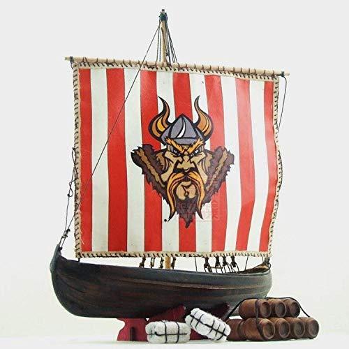 ZNYB Maquetas De Barcos Kits De Construcción Sacle 1/72 Kit de velero clásico de Madera del Norte de Europa, Barcos Vikingos, Modelo de Madera