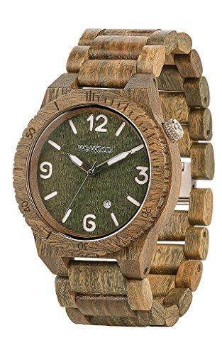 Wewood Herren-Armbanduhr Alpha Analog Quarz One Size, grün, braun/grün