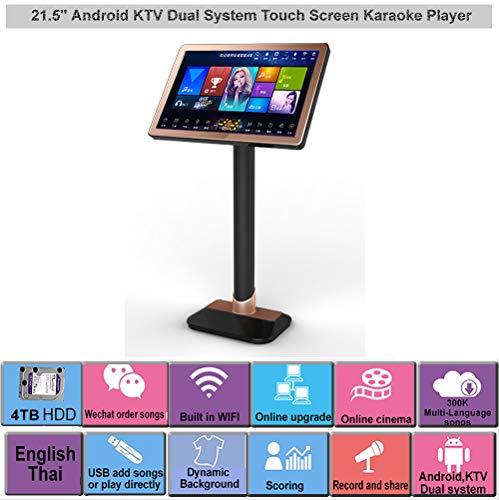 Affordable HAJURIZ 22'' Touch Screen Karaoke Player,4TB HDD English Thai songs preloaded.240K Multi-...