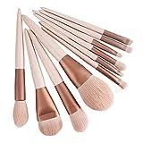 Quality Makeup Brush Set 10 Pieces Pink Makeup Brushes Foundation Blush Brush Eye Shadow Concealer Brush Face Contouring Brush Precisely Eyeliner Brush