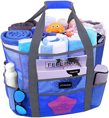 Mesh Beach Bags and Totes AOMAIS MAX Capacity 30L 150lbs Durable Toy Tote Bag with Removable product image