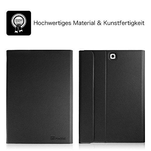 Fintie Tastatur Hülle kompatibel mit Samsung Galaxy Tab S2 9.7 T810N / T815N / T813N / T819N (9,7 Zoll) Tablet - Ultradünn Schutzhülle mit magnetisch abnehmbar drahtloser Bluetooth Tastatur, Schwarz