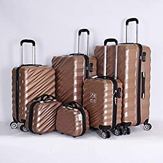 Capital Luggage Trolley Bags Set Of 6 Pcs, with 3 digit lock