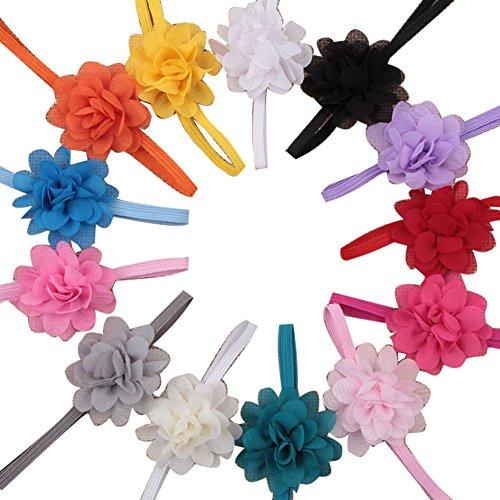 Surker Lot de 13 Accessoire Bandeau de Cheveux pour Bebe Fille Accessoire de Cheveux avec Fleur Mini en Lace