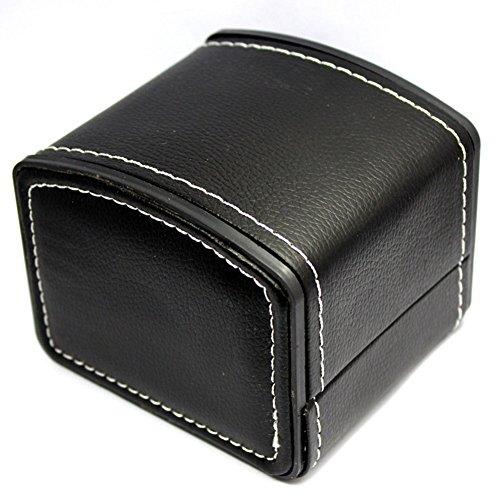 Demarkt Uhrenbox Uhrenkoffer Uhrenkasten Uhrenschatulle Watch Box Eleganter Speicher Schaukasten PU Leder (Schwarz)