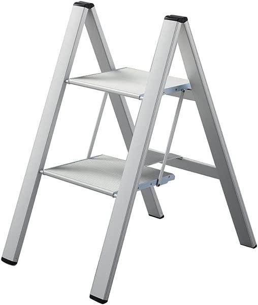 Hasegawa Ladders SJ2 0 2SI Slim Step Stepladder Silver