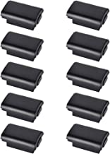 BFVV Black Battery Cover Shell Case Replacement for Xbox 360 Wireless Controller - 10 Pack