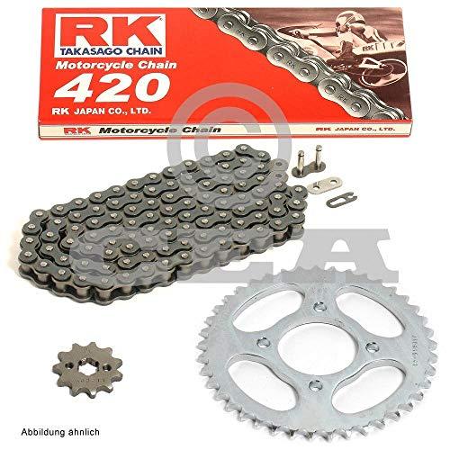 Kettensatz geeignet für Honda NSR 50 S 89-96 Kette RK 420 126 offen 13/47