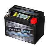 Chrome Battery YTX4L-BS iGel Battery - High Performance Power Sports, Rechargeable, Replaces 4L-BS, GTX4L-BS, CYTX4L-BS