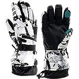 Guantes de esquí, guantes de invierno para nieve, guantes cálidos para pantalla táctil, impermeables, guantes de motocicleta para exteriores - Negro - Medium