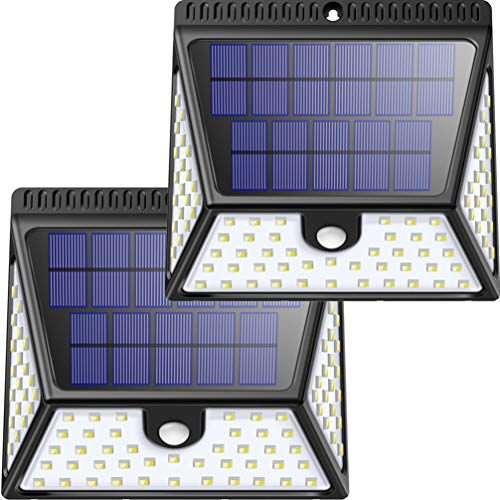 Solar Motion Sensor Lights Outdoor, Luposwiten 82 LED Bright Solar Powered Outdoor Security Wall Lights with 270