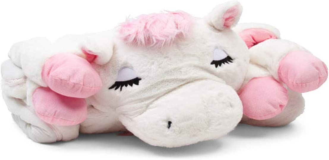 Frolics 人気の定番 Plush Sleeping Bag 信用 Assorted Horse Animals White Pink