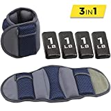 Empower Ankle & Wrist Weights for Women, Soft, Adjustable Weights, Adjustable Strap, Running, Walking, Exercise, Resistance Training, Toning, (1 Pair) 8lb, Navy