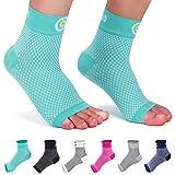 CAMBIVO 2 Paar Sprunggelenkbandage, Knöchelbandage, Fußbandage für Herren und Damen, Plantar Fasciitis Socken