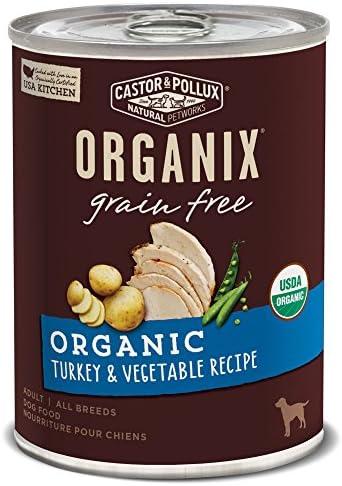 Castor Pollux Organix Grain Free Organic Turkey Vegetable Recipe Adult Canned Dog Food 12 12 product image