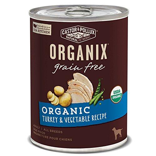 Castor & Pollux Organix Grain Free Organic Turkey & Vegetable Recipe Adult Canned Dog Food, (12) 12..7oz cans