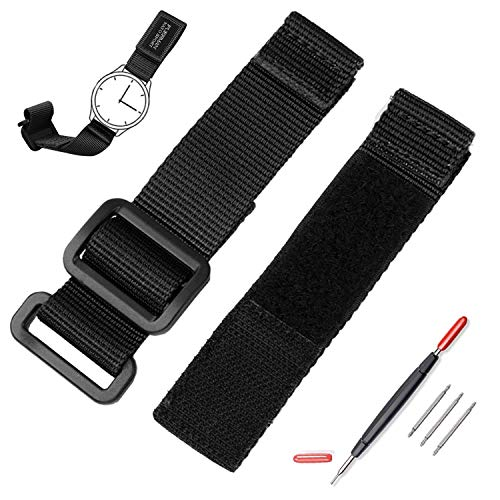 Quick Replacement Velcro Nylon Watch Bands 20mm with Tools,Suitable for Men's Diesel/Omega/LONGINES Watches