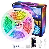 LED Strip RGB 8m, LED Streifen, LED Band, LED Leiste, LED Strip lichterkette 8m Lichtband mit Fernbedienung Selbstklebend für Zuhause, Schlafzimmer, TV, Schrankdeko, Party
