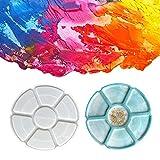 ShiftX4 Bandeja de 7 rejillas de pintura placa de resina epoxi molde de almacenamiento de maquillaje bandeja de fundición molde de silicona DIY manualidades adornos herramienta de decoración