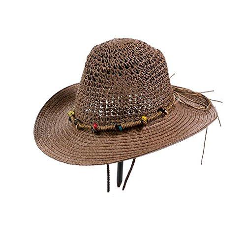 ZX Cappellini Sole Cappello Cannuccia Uomini Maschio Adulto Carta Erba All'aperto Spiaggia Sole Ombreggiatura Viaggio Pesca Berretto Accessori (Colore : T2)