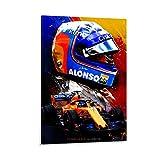 SJHAD Fernando Alonso F1 Racing Driver Wall Art Leinwand