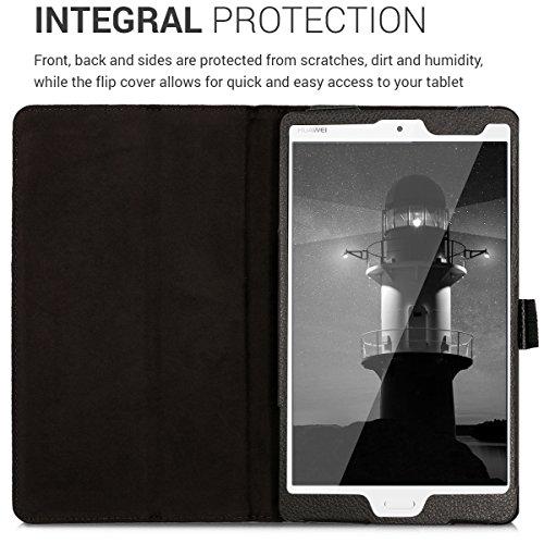 kwmobile Hülle kompatibel mit Huawei MediaPad M3 8.4 - Slim Tablet Cover Case Schutzhülle mit Ständer Schwarz - 4