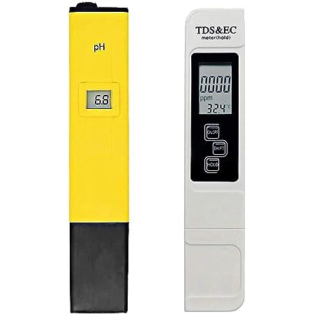 Shapure PH & TDS&EC Meter Combo, 0.05ph High Accuracy Pen Type pH Meter & +/- 2% Readout Accuracy 3-in-1 TDS EC Temperature Meter
