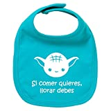 Babero de bebé Si comer quieres, llorar debes (Yoda/Star Wars - parodia)....