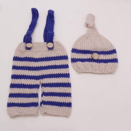 VIccoo kostuum breien, geboren baby jongen meisje schattig gehaakt prop outfits fotofotografie