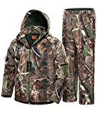 NEW VIEW 2020 Upgrade Hunting Jacket for Men,Silent Water Resistant Hunting Suits,Camo Hunting Camouflage Hooded Clothes,Hunting Pants (Upgraded Camo Tree, L) from NEW VIEW