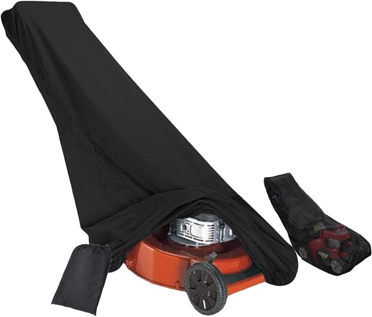 LHKK Cubierta para Cortacésped, para Caminar Detrás Cortacésped, Resistente Al Agua, a Prueba De Polvo Exterior Protector Anti-UV con Bolsa De Almacenamiento