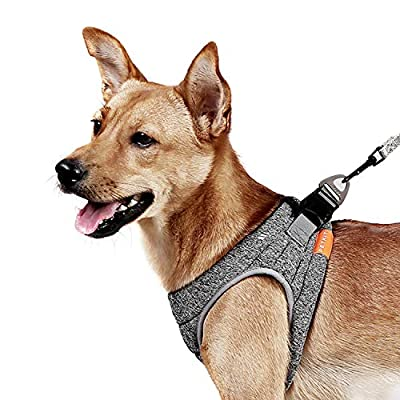 PETKIT Dog Harness with No-Pull Adjustable Pet Vest - Soft Ultra-Light Dog Collar with Reflective Strips for Medium and Small Dogs